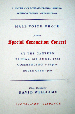 1953 - male voice choir Programme - Coronation Concert