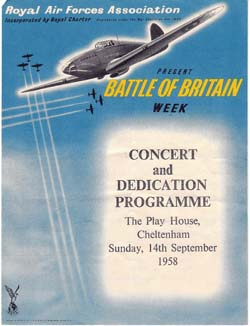 1958 - male voice choir: Battle of Britain Week