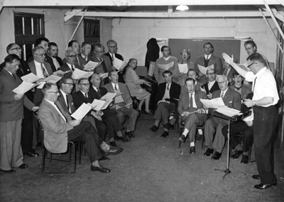 1963 - male voice choir Rehearsal