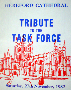 1982 - male voice choir Programme - Task Force
