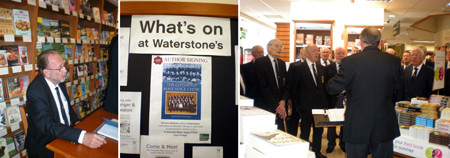 2009 Waterstones - Malcolm Williams signs male voice choir 60 year history book