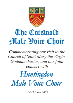 Huntingdon Male Voice Choir 311009