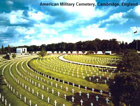 American Military Cemetery Graves Cambridge England